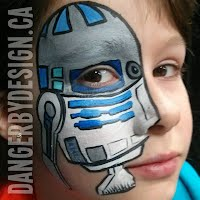 R2D2 Star Wars Face Paint