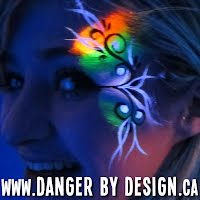 Glowing Black Light Face Paint