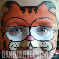 Garfield Face Painting