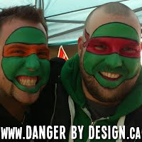 Teenage Mutant Ninja Turtles Face Painting