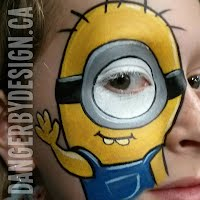 Minion Face Painting