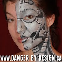 Cyborg Face Paint