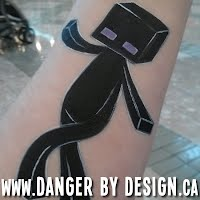 Minecraft Enderman Face Painting