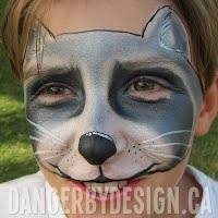 Raccoon Face Painting