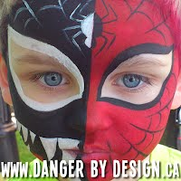 venom spider man facepaint